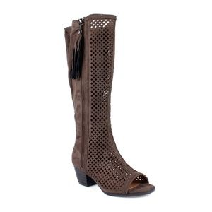 Nature Breeze Shoes - Cresta-02 Peep toe Women's Perforated Boots